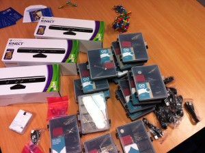 Arduino and Kinect equipment