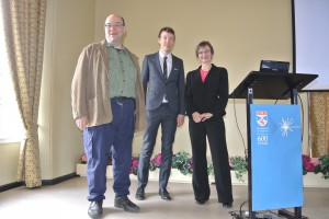 Professor Steve Linton and Dr Adam Barker with Professor Muffy Calder.