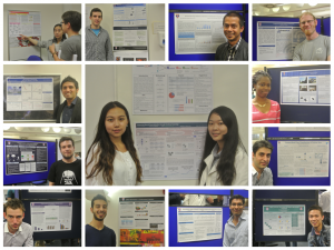 MSc students complete with poster.