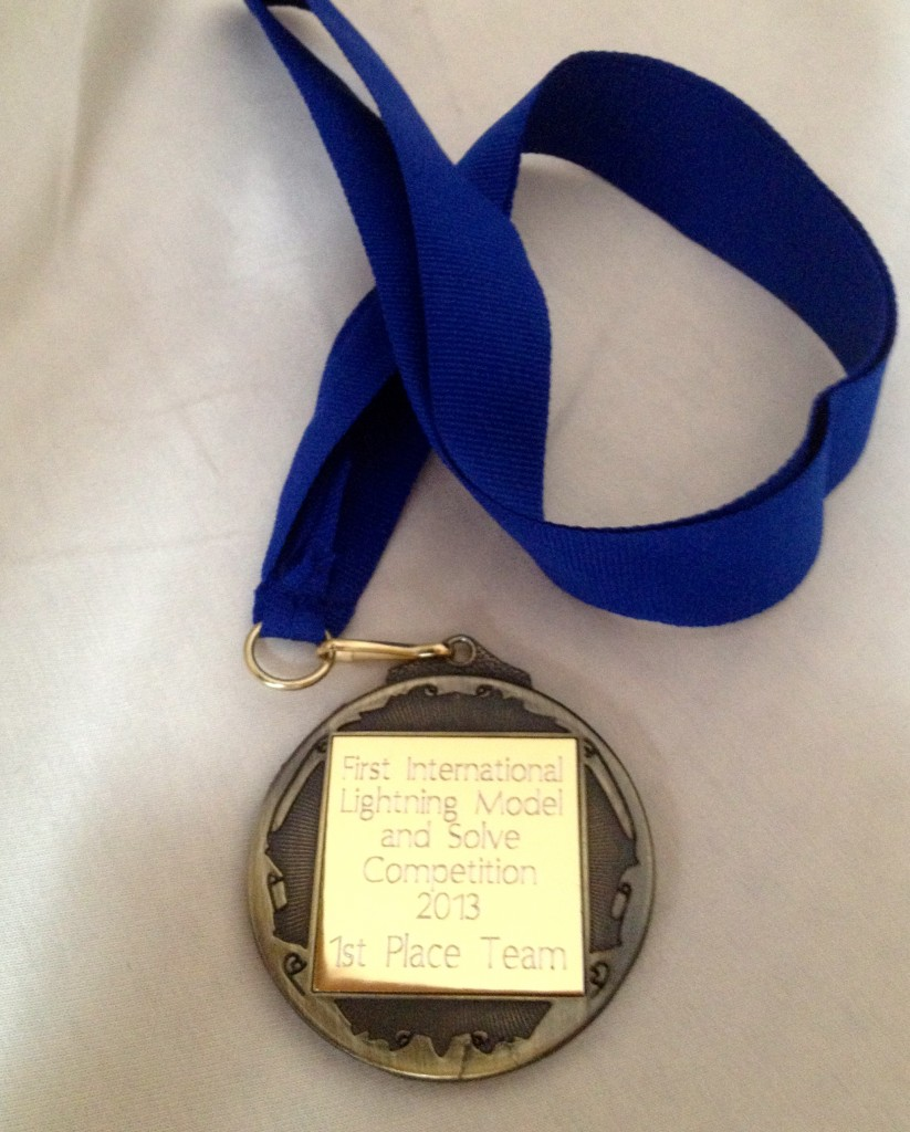Medal given to prize winning team