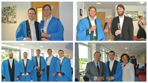 A good vintage: A sea of blue gowns equals talented PhD students.