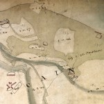 An original map of the Caen area, pre dating the clearances.