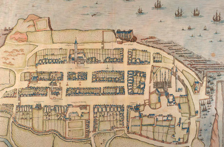 Map of John Geddy's St Andrews in c. 1580.