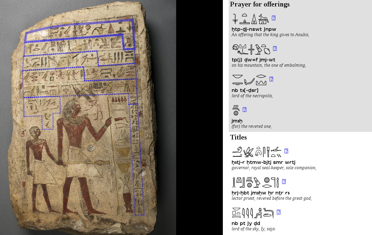 Interpreting the Hieroglyphs