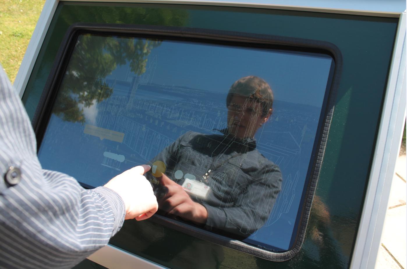 Dr. David Harris-Birtill using the LADDIE display